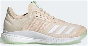 ADIDAS CRAZYFLIGHT X3 W linen/cloud white/glow green