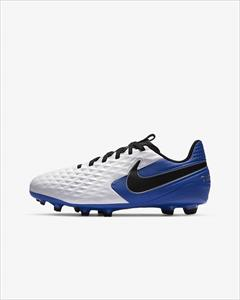 NIKE TIEMPO LEGEND 8 ACADEMY FG/MG JR bianco/hyper royal/metallic silver/nero
