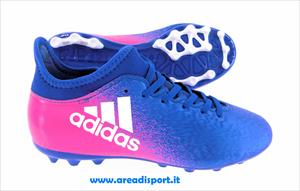 ADIDAS - X 16.3 AG JR Blue/Footwear White/Shock Pink